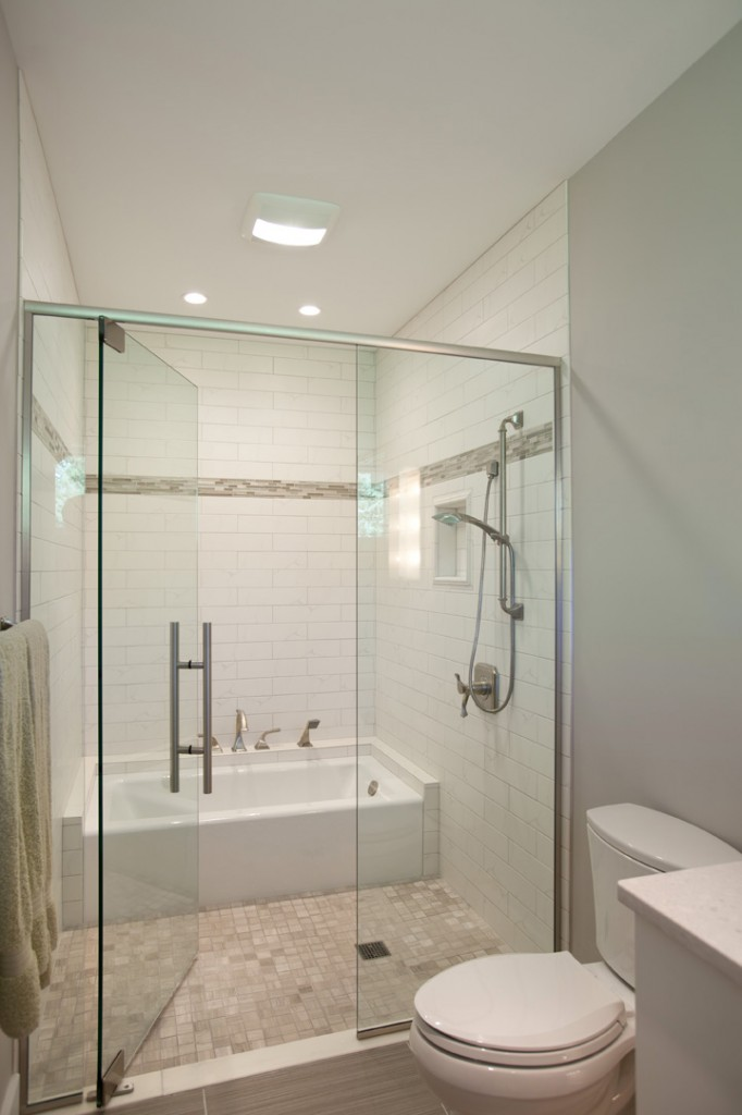 Bathroom design nest designs llc - Bathtub in shower ...