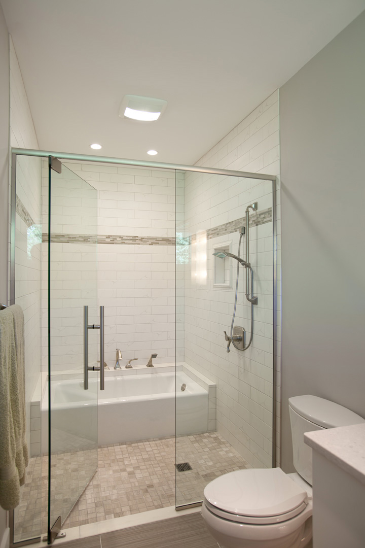 Guest bathroom with tub nest designs llc for Small bathroom ideas with tub and shower