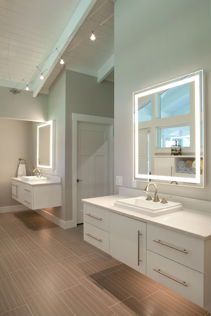 Master bathroom nest designs llc for Custom made mirrors for bathrooms